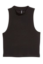 Jersey crop top - Black - Ladies | H&M CN 2