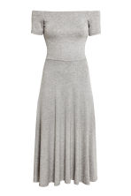 Off-the-shoulder dress - Grey marl - Ladies | H&M CN 2