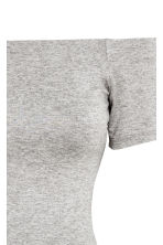 Off-the-shoulder dress - Grey marl - Ladies | H&M CN 4