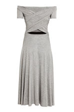 Off-the-shoulder dress - Grey marl - Ladies | H&M CN 3