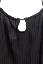 Halterneck crop top - Black - Ladies | H&M GB 3