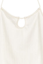 Halterneck crop top - White - Ladies | H&M GB 3