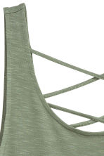 Jersey vest top - Khaki green - Ladies | H&M CN 3