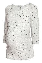 MAMA Jersey top - Light grey/Birds - Ladies | H&M CN 2