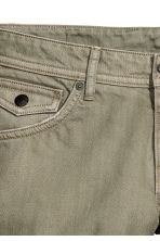 Denim shorts - Khaki green - Ladies | H&M GB 4