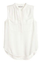 Sleeveless blouse - White - Ladies | H&M CN 2