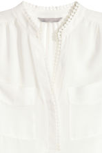 Sleeveless blouse - White - Ladies | H&M CN 3