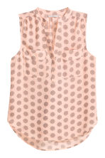 Sleeveless blouse - Powder pink/Pattern - Ladies | H&M CN 2