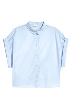 Short cotton shirt - Light blue - Ladies | H&M CN 2