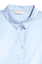 Short cotton shirt - Light blue - Ladies | H&M CN 3