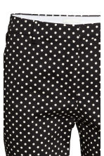 Cigarette trousers - Black/Spotted - Ladies | H&M GB 3