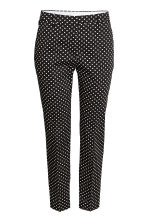 Cigarette trousers - Black/Spotted - Ladies | H&M GB 2