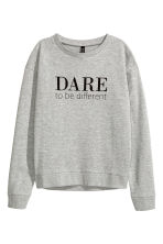 Printed sweatshirt - Grey - Ladies | H&M CN 2
