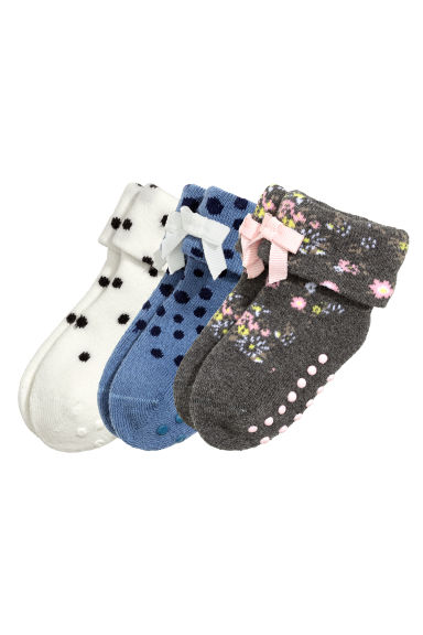 3-pack terry socks - Blue - Kids | H&M CN 1