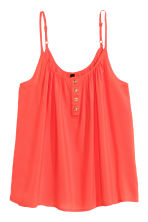 Strappy top with buttons - Coral red - Ladies | H&M CN 2