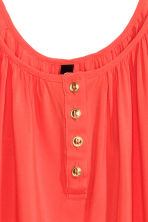 Strappy top with buttons - Coral red - Ladies | H&M CN 3