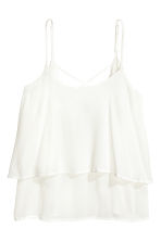 Flounced strappy top - White - Ladies | H&M CN 2