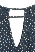 Long-sleeved blouse - Dark blue/Hearts - Ladies | H&M CN 3