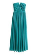 Chiffon maxi dress - Petrol - Ladies | H&M CN 2
