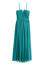 Chiffon maxi dress - Petrol - Ladies | H&M CN 3