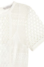 Short lace dress - White - Ladies | H&M CN 3