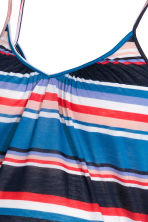 MAMA V-neck strappy top - Blue/Striped - Ladies | H&M CN 3