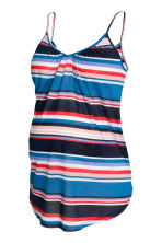 MAMA V-neck strappy top - Blue/Striped - Ladies | H&M CN 2