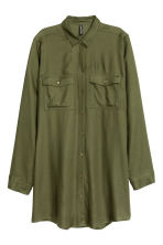 Long shirt - Khaki green - Ladies | H&M CN 2