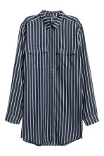 Long shirt - Dark blue/Striped - Ladies | H&M CN 2