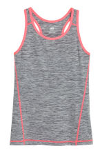 Sports vest top - Dark grey marl - Kids | H&M CN 2