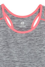 Sports vest top - Dark grey marl - Kids | H&M CN 3