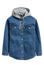 Giacca-camicia con cappuccio - Blu denim -  | H&M IT 2