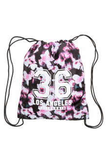 Patterned gym bag
