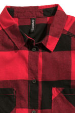Flannel shirt - Red - Ladies | H&M CN 3
