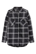 Flannel shirt - Black - Ladies | H&M CN 2