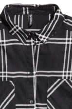 Flannel shirt - Black - Ladies | H&M CN 3