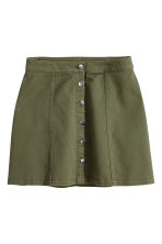 A-line skirt - Khaki green - Ladies | H&M GB 2