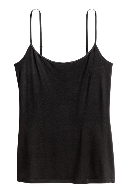 Strappy viscose top