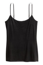 Strappy viscose top - Black - Ladies | H&M 3