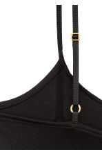 Strappy viscose top - Black - Ladies | H&M 4