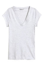Top in pima cotton - Light grey marl - Ladies | H&M CN 2