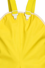 Rain trousers with straps - Yellow -  | H&M CN 3