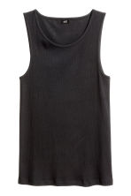 Ribbed vest top - Black - Men | H&M CN 2