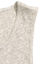 Ribbed vest top - Grey beige marl - Men | H&M 3