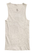 Ribbed vest top - Grey beige marl - Men | H&M 2