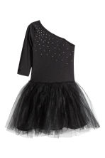 Dance dress with a tulle skirt - Black - Kids | H&M CN 2