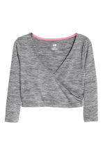 Dance crop top - Dark grey marl - Kids | H&M CN 2