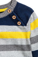 Fine-knit jumper - Grey/Striped - Kids | H&M CN 2