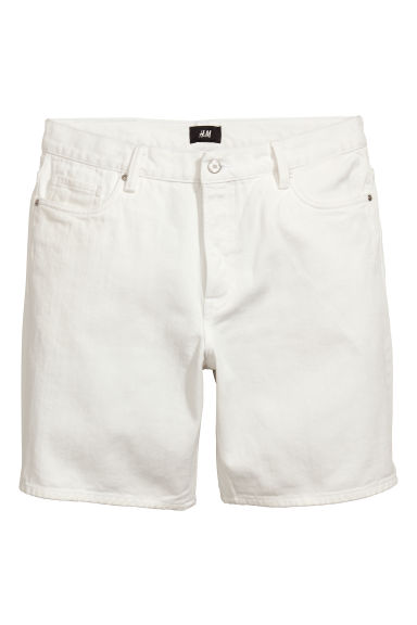 Denim shorts - White - Men | H&M CN 1