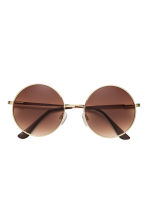 Round sunglasses - Gold - Ladies | H&M 2